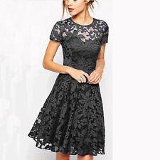 UK Plus Size Womens Lace Mini Dress Ladies Evening Party Cocktail Bridesmaids