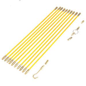 Fiberglass Running Wire Fiberglass Cable Running Rods Brass Connectors Glass