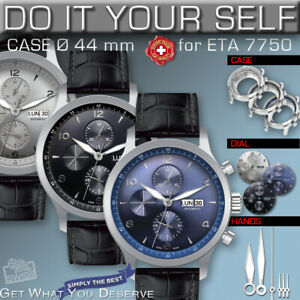 DO IT YOURSELF KIT: 7750 ETA-VALJOUX, CHRONOMATIC 44 MM, KIT:  ST-ST CASE