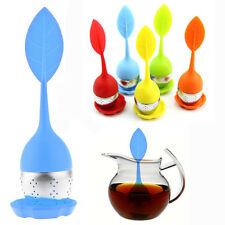 Silicone Tea Leaf Strainer Infuser Loose Herbal Filter Diffuser With Cushion~