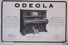PUBLICITÉ 1919 ERARD ODEOLA PIANO  - ADVERTISING