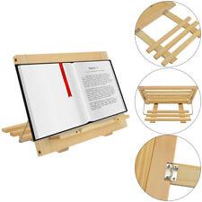 Wooden Reading Rest Stand Adjustable Cook Kitchen Recipe Book Holder Display