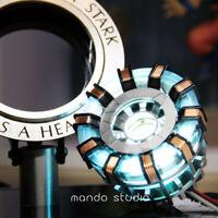 Iron Man Arc Reactor MK2 1:1 Tony Stark Heart LED USB DIY Model Figure Prop