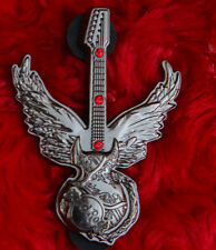 Hard Rock Cafe 2007 DARK ROMANCE 3D WINGED GUITAR Pin Badge LE gemstone angel