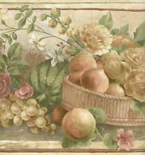 Wallpaper Border with BASKETS   FLOWERS   FRUIT   ROSES