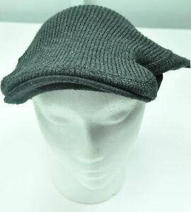 Men Winter Van Heusen Charcoal Gray or Black Acrylic NewsBoy Hat Cap MSRP $30