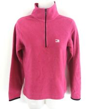 TOMMY HILFIGER Womens Jumper Sweater S Small Purple Polyester 1/4 Zip