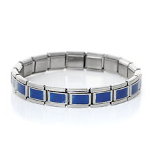 Starter Italian Charm 18 Link Bracelet 17.5 Cm (Blue Enamel)