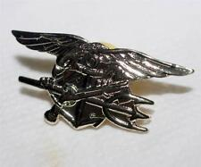"""SEAL TEAM US NAVY 1-1/4"""" Militaria Novelty BRASS LAPEL HAT PIN w/ Back Latch New"""