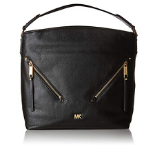 Michael Kors Large Leather Hobo Black