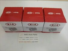 GENUINE ENGINE OIL FILTER X 3EA SUITS KIA RIO 2011-ONWARDS 1.4i  PETROL