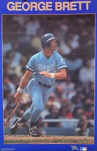Vintage 1987 GEORGE BRETT 34 x 22 Kansas City Royals MLB Starline Poster RARE