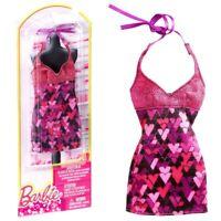 Kleid lila pink mit Glitter   Barbie   Mattel BCN46   Trend Mode Puppen-Kleidung