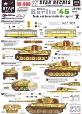 Star Decals 1/35 BATTLE FOR BERLIN '45 Part 2 Tanks & Trams Inside the Capital