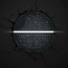 Star Wars Death Star 3D DECO DEL WALL LIGHT avec fissure Stickers nouvelle lampe