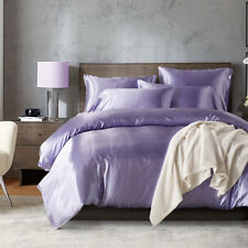 Satin Silk Bedding Set Duvet Quilt Cover Pillow Case w/o Sheet Twin/Queen/King