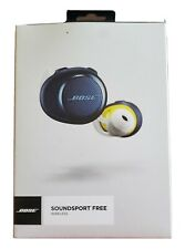 CITRON NAVY BOSE SOUNDSPORT FREE WIRELESS HEADPHONES INEAR EARBUDS FOR iPHONE