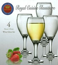 Royal Cuisine Set of 4 Large Wine Glasses Can be used for Red or White Wine
