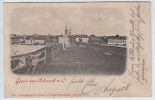 Gruss aus Schwedt, Oderbrücke, alte AK