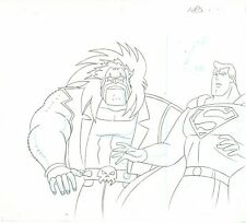 "SUPERMAN THE ANIMATED SERIES ANIMATION DRAWING A51 FROM ""THE MAIN MAN"""