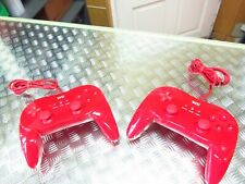 Genuine Official Red Nintendo Wii Classic Controller Pro **RVL-005**