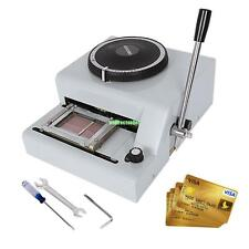 72 Character Letter Manual Embosser ID PVC VIP Card Embossing Machine