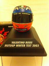 Minichamps Escala 1.8th MotoGP Valentino Rossi prueba de invierno Casco 2003.