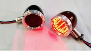 Tail lights 2.5 Universal LED Billet for Hot Rod,Chevy,Ford,Dodge,Gmc,bikes