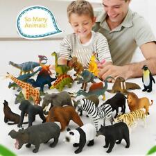 12STÜCKE Kinder Wilde Tiere Welt Modell Tiger Lion Giraffe Zebra Figur Spielzeug