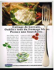 Publicité Advertising 1989 Le Fromage frais Cottage de gervais