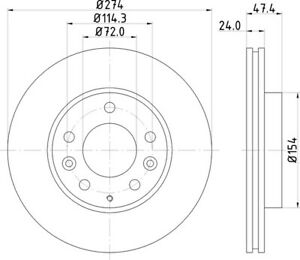 DON PCD14332 274mm Front Brake Disc Set Fits Isuzu Mazda