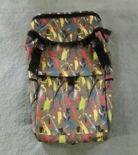 III PARCEL Skateboard Backpack - Steampunk Movie Theatre / Graffiti Theme Colors