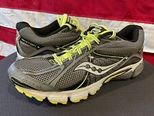 SAUCONY Grid Ignition 4 Running Shoes 25169-3 Grey Yellow MENS 10 44 Sneakers