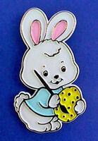 Hallmark PIN Easter Vintage BUNNY RABBIT EGG Painting ARTIST Holiday Brooch