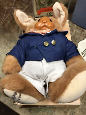 Robert Raikes plush/wood Bunny Rabbit jointed 1990 Applause Uncle Vincent in box