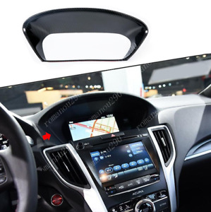 For Acura TLX 2015-20 Carbon Fiber Look Console Dashboard frame Decor Cover Trim