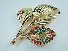 with Swarovski Crystals 1515 D'Orlan Gold Plated Flower Brooch