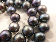 """Genuine PEARLS BLACK   Strand 16""""  9.5-10mm 305.40 cts Cultured FW (#102)"""