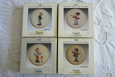 4 Goebel Miniature Collectors Plates 1984 thru 1987