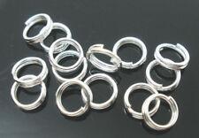 LOT de 240 ANNEAUX connecteurs DOUBLES sans nickel 4mm ARGENTE création bijoux