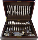 Empire by Buccellati Sterling Silver Dinner Flatware Set Service 77 Pieces Italy
