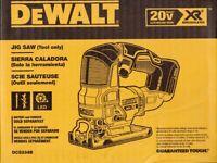 DEWALT DCS334B 20 VOLT 20V MAX XR BRUSHLESS JIG SAW, BARE TOOL - NEW IN BOX!