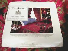 Ralph Lauren Estate Conservatory Red Blue Gold Animal Floral Fitted Sheet- Queen