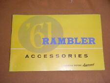 Vintage 1961 Rambler car Accessories Brochure Catalog auto Advertisement booklet