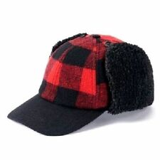 47fd790bf8 New Urban Pipeline Earflap Trapper Hat Cap Red Buffalo Plaid Men s Size S    M