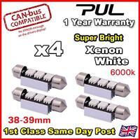 4x 3 SMD LED 38mm 239 272 CANBUS NO ERROR XENON WHITE NUMBER PLATE LIGHT BULB UK