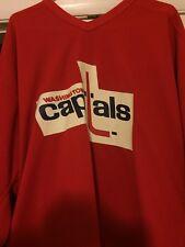 NHL 1998-99 GAME WORN STEVE HOLLETT WASHINGTON CAPITALS PRACTICE  HOCKEY JERSEY