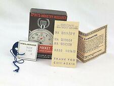 Helbros Pocket Timer RARE Swiss Made BOX with original papers including Receipt