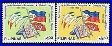PHILIPPINES 1989 FRENCH REVOLUTION SC#2000-01 MNH FLAGS