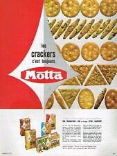 G- Publicité Advertising 1965 Biscuits apéritif Crackers Motta